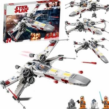 Lepinblocks 05145 StarWars X-wing Starfighters Building Blocks Compatible 75218 star wars sets Bricks Toys For Children Gift