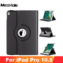 For iPad Pro 10.5 Case , 360 Degree Rotating Stand Cover Funda PU Leather Smart Flip Conque Sleep/Wake