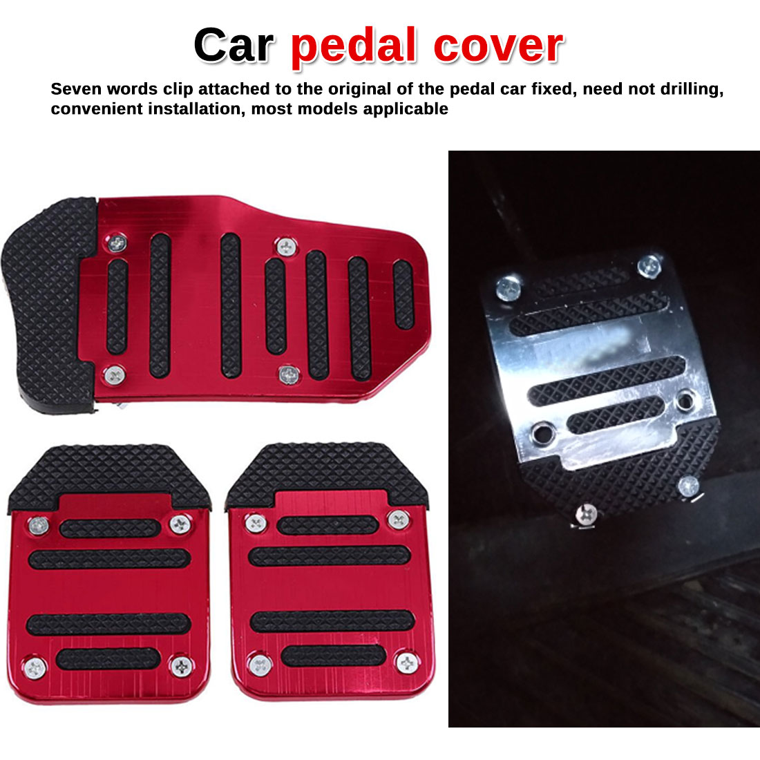 Universal Aluminium Manual Transmission Antislip Auto Pedaal Auto Rem Gaspedaal Koppelingspedaal Cover Set Kit