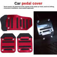 Universal Aluminum Manual Transmission Non-Slip Car Pedal Car Brake Throttle Clutch Pedal Cover Set Kit