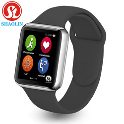 42mm New bluetooth smart watch Series 4 smartwatch case for apply iphone and samsung sony xiaomi android phone (Red Button)