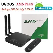 UGOOS AM6 PLUS Amlogic S922X 2.2Ghz Android 9.0สมาร์ททีวีBox 4GB 32GB 2.4G 5G wifi Bluetooth 1000Mชุดกล่องด้านบน4K Media Player