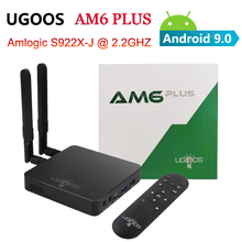 Ugoos AM6 Plus Amlogic S922X 2.2Ghz Android 9.0 Smart Tv Box 4Gb 32Gb 2.4G 5G wifi Bluetooth 1000M Set Top Box 4K Mediaspeler