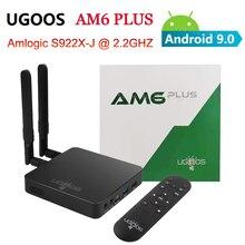 Ugoos am6 plus amlogic s922x 2.2ghz android 9.0 smart tv caixa 4gb 32gb 2.4g 5g wifi bluetooth 1000m conjunto caixa superior 4k media player