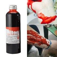 100ml ultra-realista sangue dia das bruxas feridas falsas contusões falso sangue compõem corpo rosto pintura simulação cosplay #50