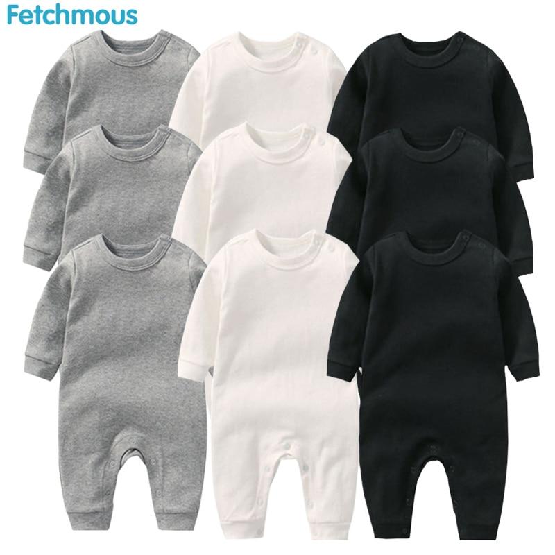 Комбинезоны для маленьких мальчиков Roupa De Bebes с длинным рукавом зимняя мягкая хлопковая одежда для девочек Одежда для новорожденных|Ромперы|   | АлиЭкспресс