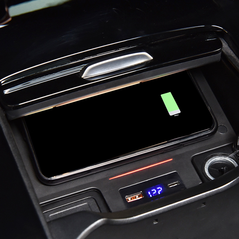For Mercedes Benz W177 W246 A180 AMG A35L B200 GLB 200 <font><b>2019</b></font> 2020 car QI wireless charging phone charger accessories for iPhone 8 image