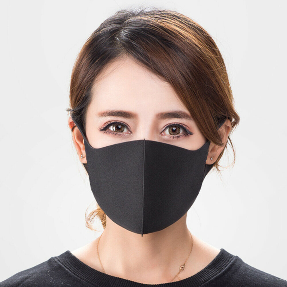 1/3pcs Fashion Washable Earloop Mask Anti Dust Haze Fog Cycling Mouth Face Mask Muffle
