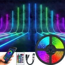 Bluetooth LED Streifen Lichter luces LED RGB 5050 2835 Flexible Lampe Band Band Mit Diode DC 12V 5M 10M 32,8 ft Weihnachten Neue Jahr