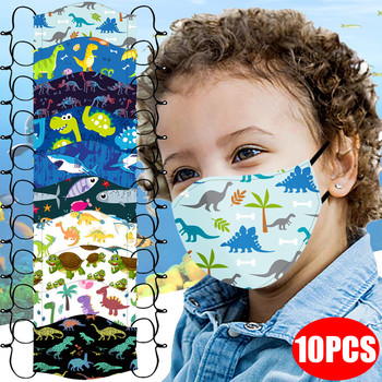 10PC Children's Printed washable Mask Adjustable Windproof Reusable Robote Mouth Cover mascarila Masque Antiviral балаклава kpop image