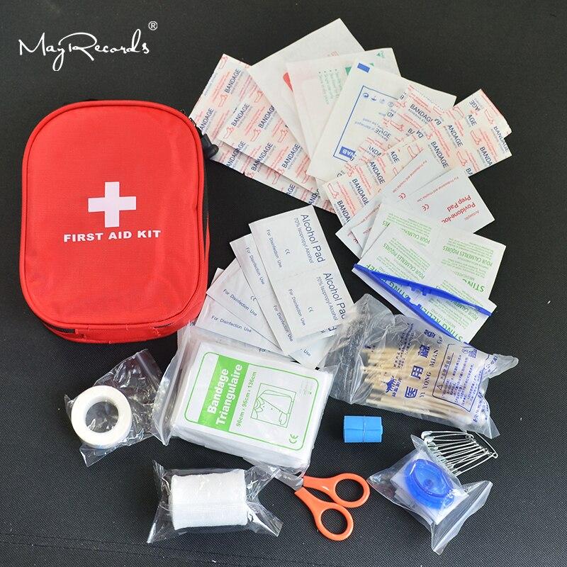 120 unidades/pacote Seguro de Acampamento Caminhadas Kit de Primeiros Socorros Do Carro Kit de Emergência Médica Pacote de Tratamento de Sobrevivência Na Selva Ao Ar Livre