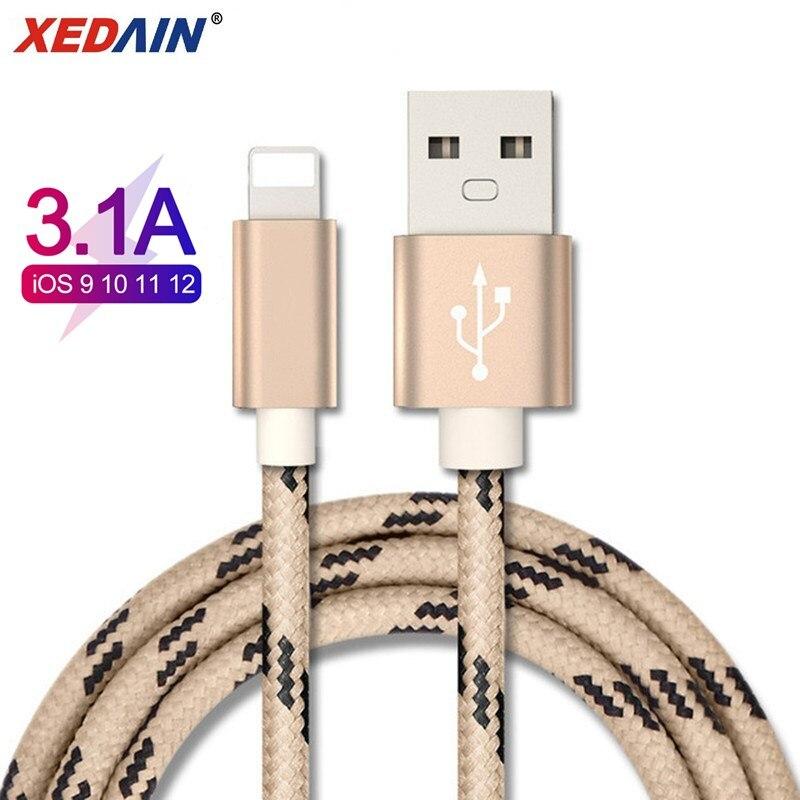 Bon câble usb pour câble iphone Xs max Xr X 8 7 6 plus 6s 5 s plus ipad mini câbles de charge rapide données de cordon de chargeur de téléphone portable