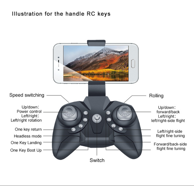 Drone RC Quadcopter Mini Drone Camera HD 1080P Wifi FPV Dron Foldable Altitude Hold RC Helicopter Selfie Drones Professional Toy 4