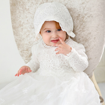 vintage Baby Girl Dress Baptism Dresses for Girls 1st year birthday party wedding Christening baby infant clothing bebes elegant baby flower girl dresses with bow newborn party dress christening dress baptism gown tulle 1st birthday dress