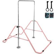 VEVOR Kids Adjustable Gymnastics Horizontal Bar 130LBS Kip Bar Climbing Tower Gym худи print bar drogos gym