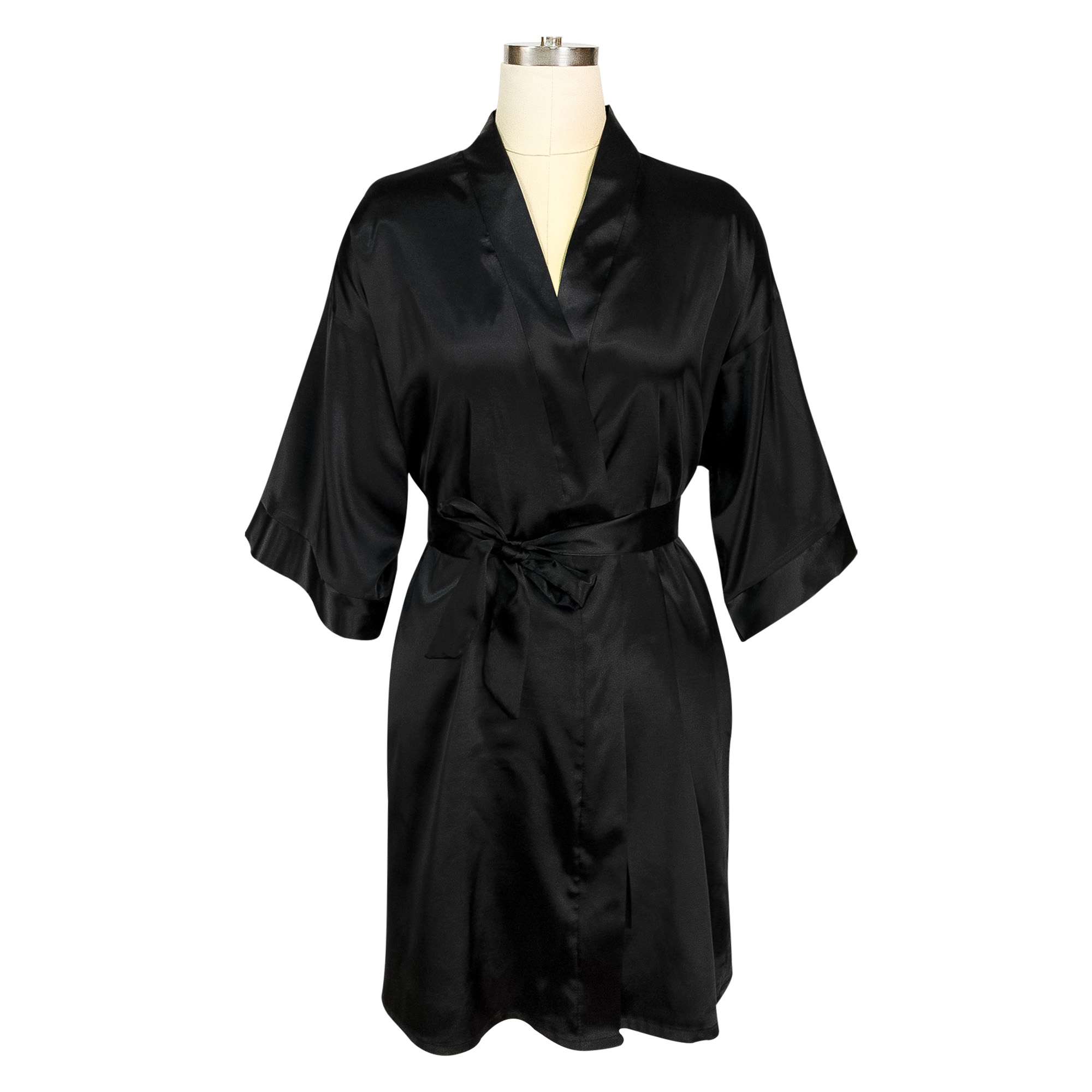 Wedding Party Blank Robes Bride Bridesmaid Pure Color Bath Robe Short Night Gown For Girls