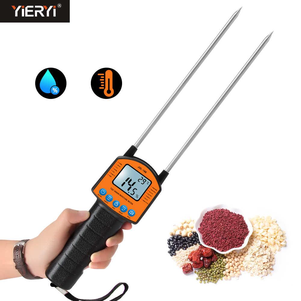 Цифровой измеритель влажности зерна JGL-188, металлический сенсорный ЖК-дисплей, голосовое управление, для кукурузной пшеницы, рисовой муки