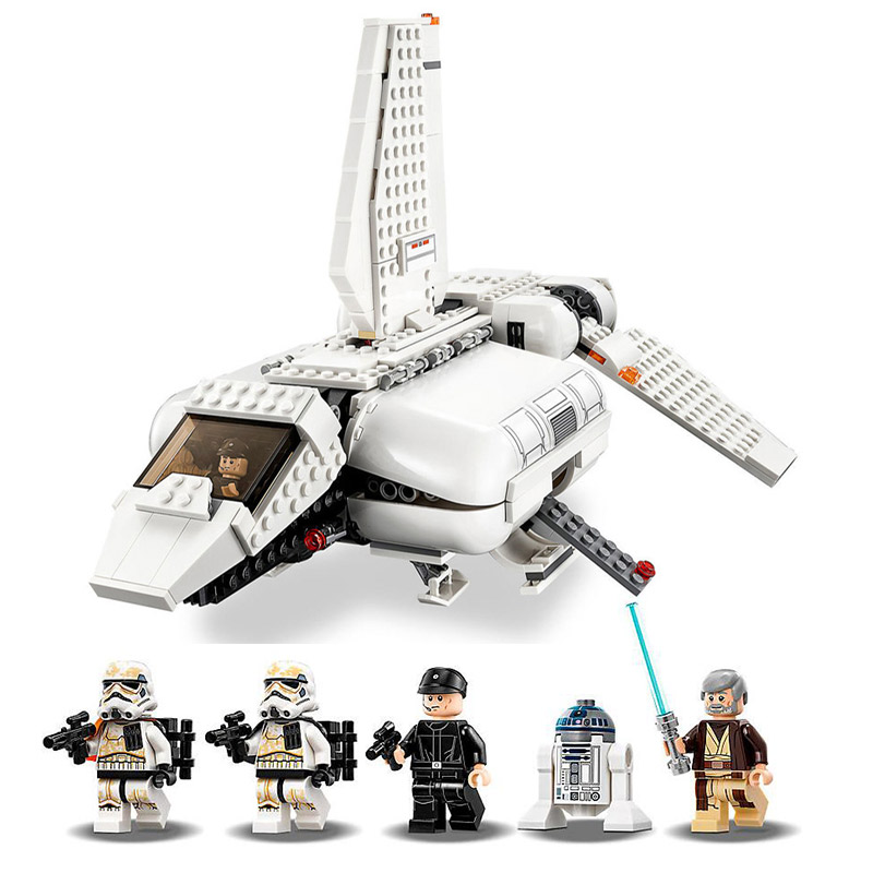 05147 New Star Plan Wars Imperial Landing Craft Compatible Legoingly Starwars 75221 Building Blocks Bricks Toys Christmas Gifts