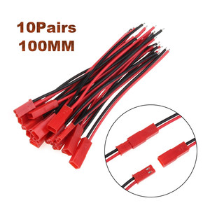 2/10Pairs 100/150mm 2 Pin Connector Plug JST Cable Male/Female Connectors For RC BEC Battery Helicopter DIY FPV Drone Quadcopter(China)