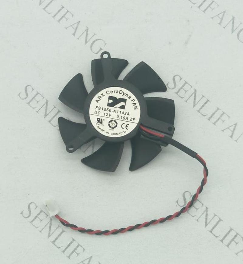 Free Shipping  For ARX FS1250-A1142A DC 12V 0.15A 2-wire Server Round Fan