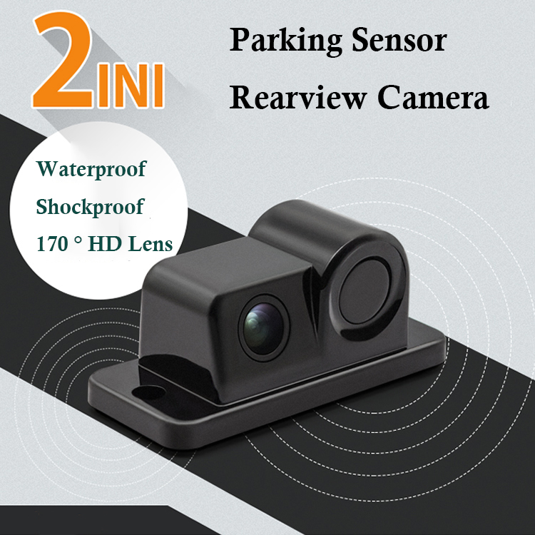 Camera Parking-Sensor-Kit Rearview-Backup Car Parktronic Auto-Reversing 2in1-Design 170-Degree title=