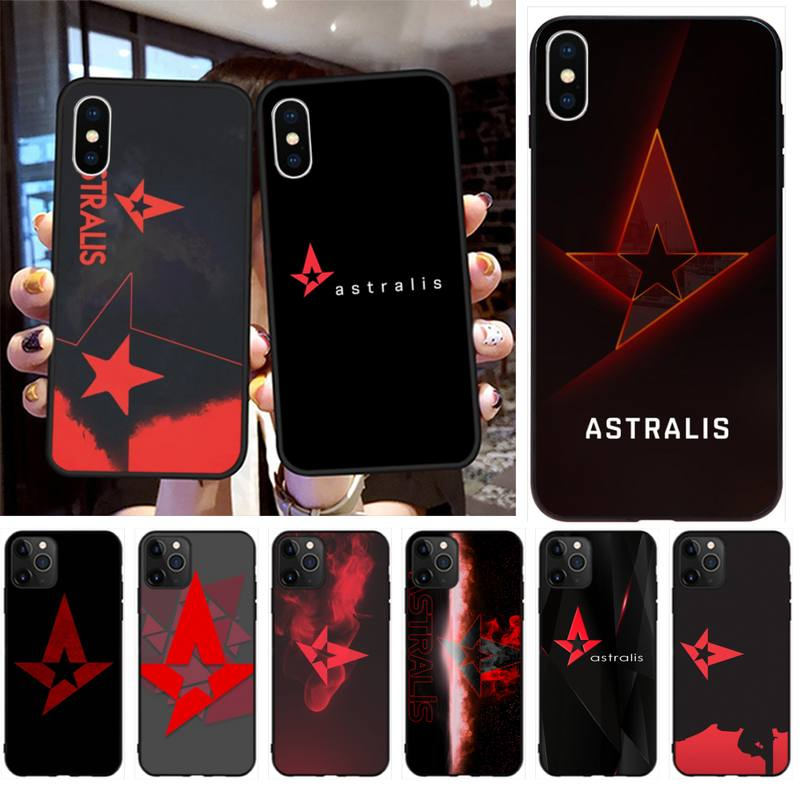 CUTEWANAN Astralis logo Black TPU Soft Phone Case Cover for iPhone 11 pro XS MAX 8 7 6 6S Plus X 5S SE 2020 XR case image