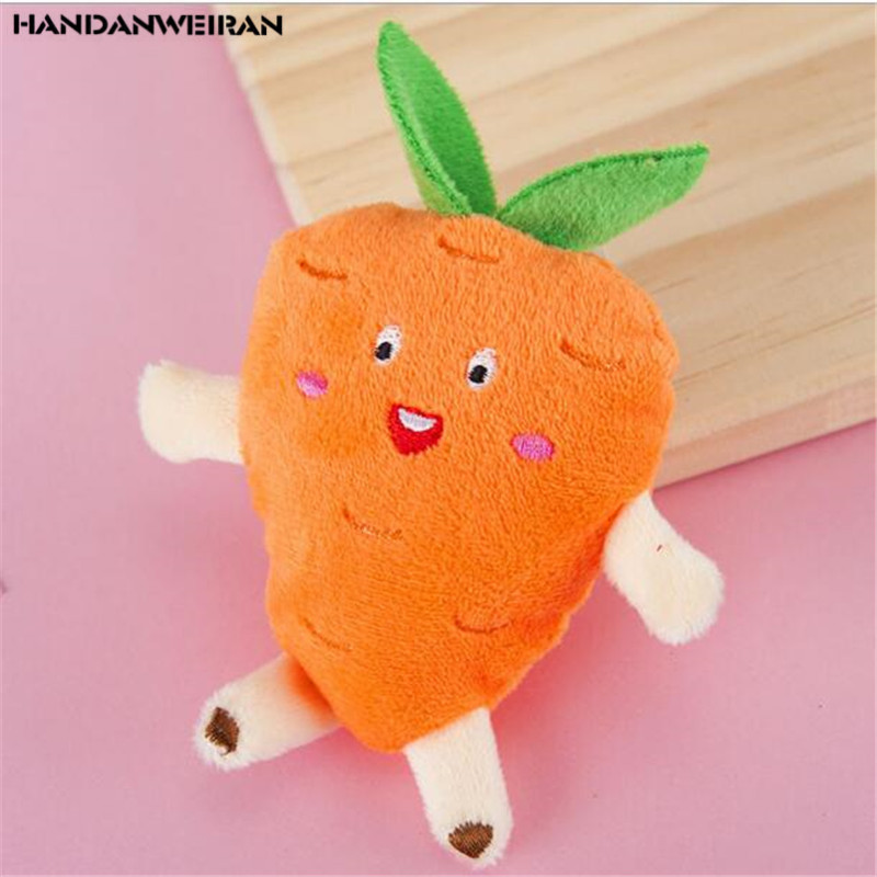 New 2020 1PCS 10cm Watermelon Strawberry Carrot Plush Toy Stuffed Pendant Hot Sale Cheap Cute Vegetables And Fruits HANDANWEIRAN