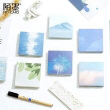 100 folhas belo cenário bloco de memorando oceano mensagem notas decorativas bloco de notas papel memorando artigos de papelaria material de escritório