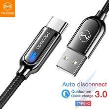 Mcdodo kabel USB typu C do Samsung Galaxy S10 Plus jeden Plus QC3.0 szybkie ładowanie telefonu kabel USB C Auto odłącz przewód ładowarki