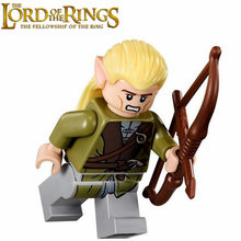 Singel Sale The Lord of the Rings Archer MINI FIGURES Dark Green Outfit Minifig Assemble Model Building Blocks Kids Toys Gifts(China)