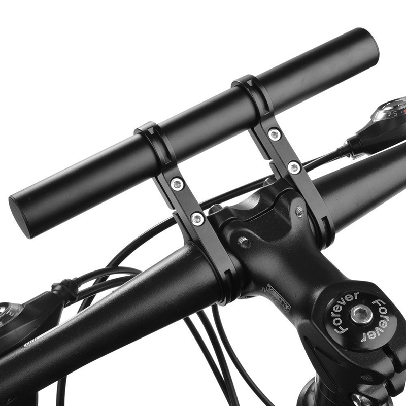 Handlebar Extension Mount Bicycle Bike Handle Bar Bracket Extender Holder black