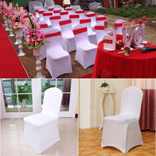 Modern Wedding Chair Covers Spandex Universal Stretch Hotel Dining housse de chaise Party Meeting Chair Cover(China)
