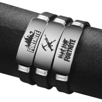 Fortnite Game Bracelet Stainless Steel Bracelets Men Women Adjustable Bangles Fortnight Anime Figure Sports Boys Kids Gift 1