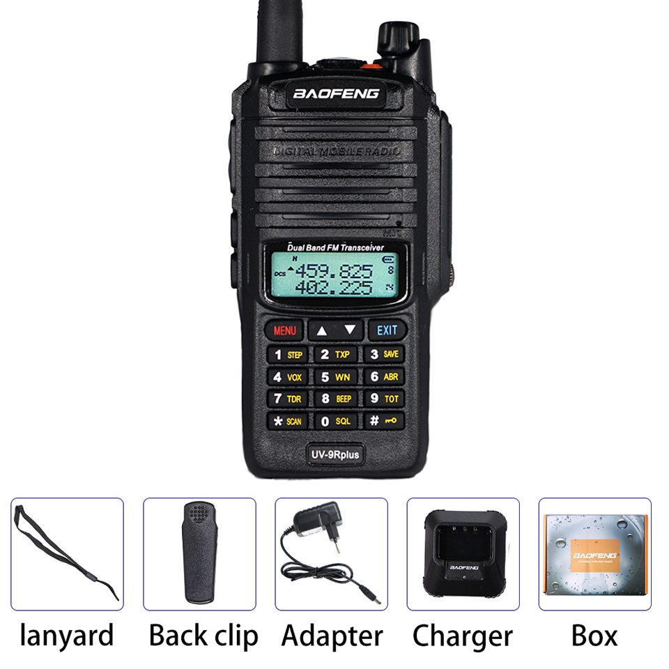 10 Вт Водонепроницаемый Baofeng UV-9R Plus рация 9rhp мощный портативный CB Ham радио 10 км двухдиапазонный КВ трансивер UV9R передача