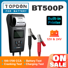 Car-Battery-Tester Load-Test TOPDON BT500P Motorcycle Auto-Charging 12V 24V with