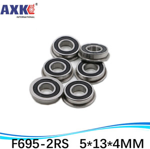F695-2RS подшипник 5*13*4 мм (10 шт.) ABEC-1 фланцевые миниатюрные F695 RS шариковые подшипники F695RS для 3d принтера VORON Mobius 2/3