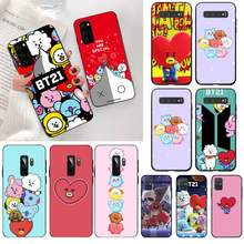 Cartoon BT21 Coque powłoki etui na telefony dla Samsung S20 plus Ultra S6 S7 krawędzi S8 S9 plus S10 5G lite 2020(China)
