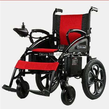 Cheap price folding carbon steel handicapped electric wheelchair with lithium battery