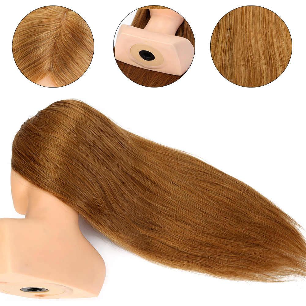 100% Echt Haar 24 ''Hairdressing Training Hoofd Kapsel Pop Met Schouder Vlechten Curling Praktijk Mannequin Hoofd
