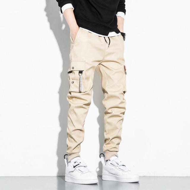 Autumn Black Jogger Men Cargo Pants Outdoor Tactical Military Pants Casual Loose Sweat Pants Men Cotton Trousers Big Size 8XL 4