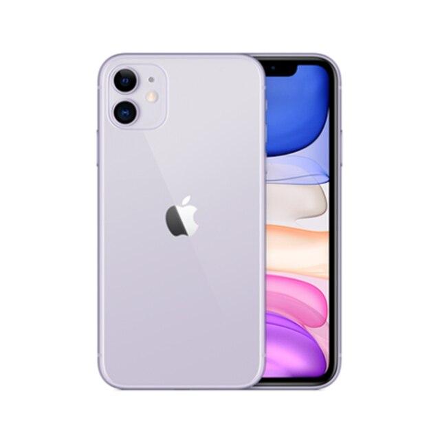 Used Unlocked Original iPhone 11 6.1 inch Full OLED Display  1 Sim Card 4G LTE Dual-camera Smart Phone 64/128/256GB ROM A13 3