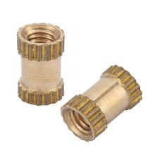 M2.5 Wood Screw And Nut Stainless Steel Square Nuts Brass Cylinder Knurled Round Molded-in Insert Embedded Convenient