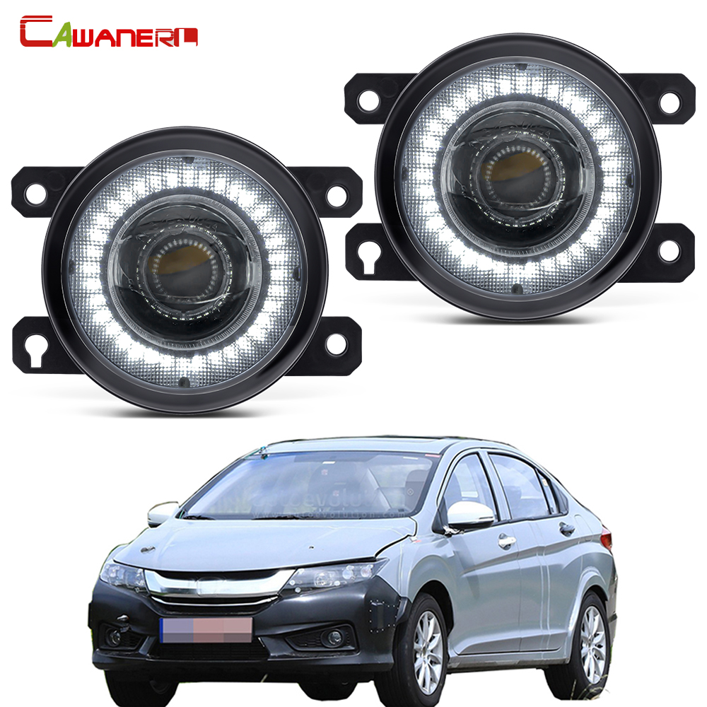 Araba sol + sağ sis lambası meclisi LED melek göz DRL gündüz çalışan far 30W 12V Honda Insight için 2010 2011 2012 2013 2014