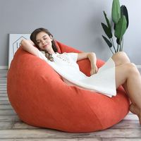 Saco de feijão sofá capa sem enchimento cadeira espreguiçadeira sofá assento sala estar mobiliário beanbag sofá cama puff puff preguiçoso tatami Pufes gigantes     -