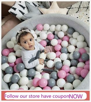 400 teile/los Kunststoff Bälle Für Trockene Pool Lustige Kid Schwimmen Pit Spielzeug Trockenen Pool Welle Spiel Umweltfreundliche Bunte Weiche ozean Kugel