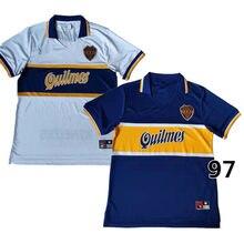 Qualidade superior 2000 2001 2002 2003 2004 camisa masculina 97 98 boca camisa retro tevez maradona carlitos riquelme batistuta camisa retro