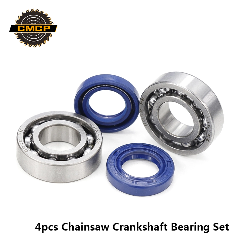 4pcs Seals And Crankshaft Bearing Set Chainsaw Oil Seal Kit Fit For STIHL MS180 MS170 170 180 Chainsaw Crankshaft Bearing