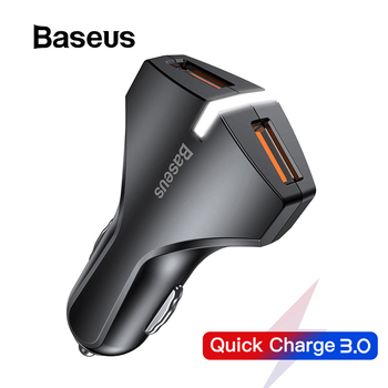Baseus Quick Charge 3.0 Car Charger For Samsung Quick Charger QC 3.0 USB Mobile Phone Charger for Huawei Xiaomi Fast Charging