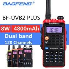 Baofeng uv b2 plus 8 Вт высокомощный fm трансивер 4800 мАч аккумулятор
