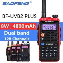Baofeng UV B2 plus 8w de alta potência transceptor fm 4800mah bateria BF UVB2 plus para rádio móvel rádio cb uvb2 walkie talkie Uv b2